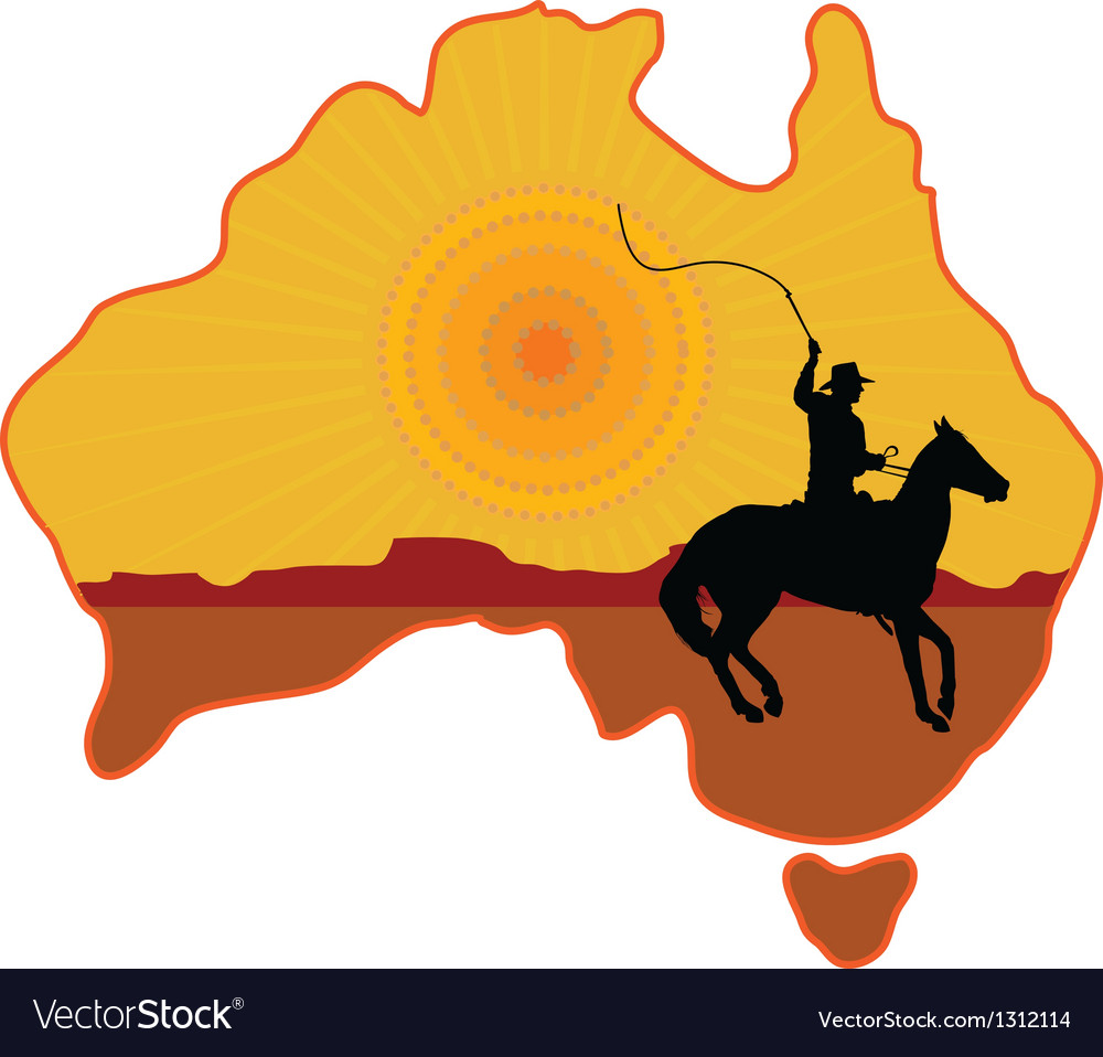 Australian horseman vector | Price: 1 Credit (USD $1)