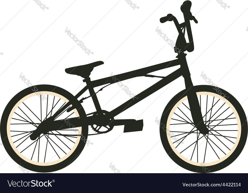 Bmx bike black silhouette vector | Price: 1 Credit (USD $1)