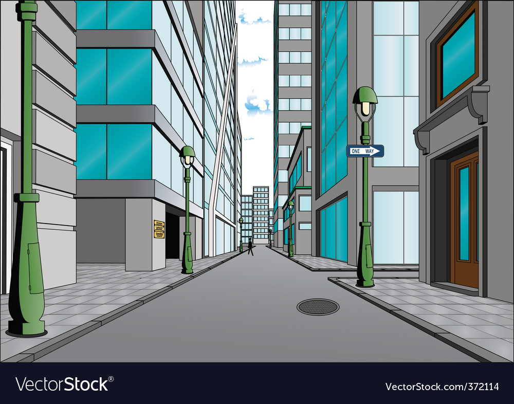 City street vector | Price: 3 Credit (USD $3)