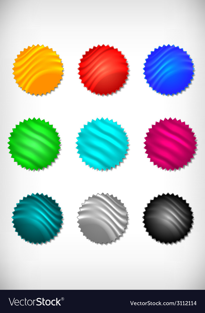 Colorful sticker collection vector | Price: 1 Credit (USD $1)