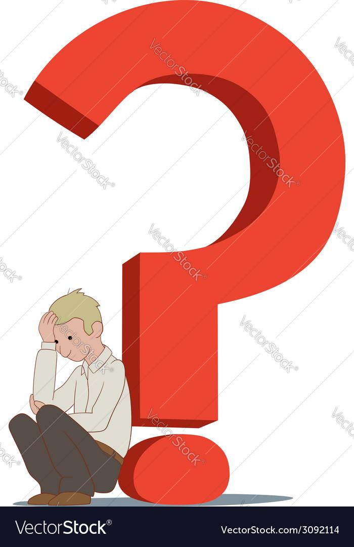 Depressing question vector | Price: 1 Credit (USD $1)