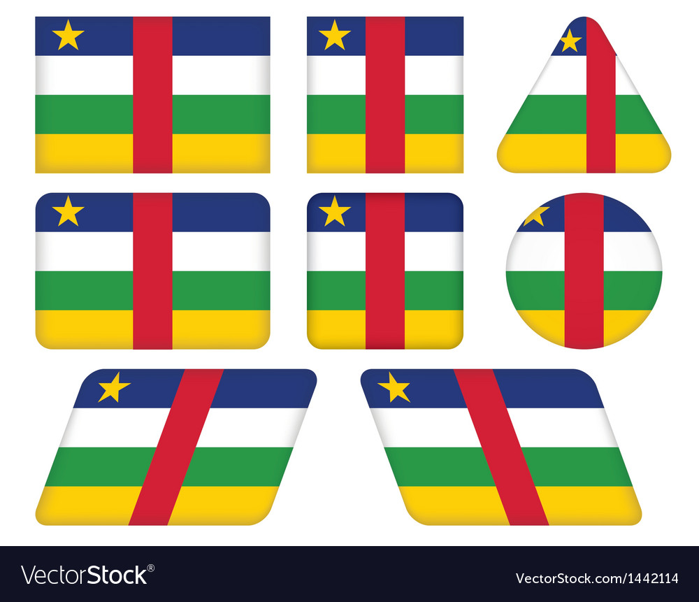 Flag of central african republic vector | Price: 1 Credit (USD $1)