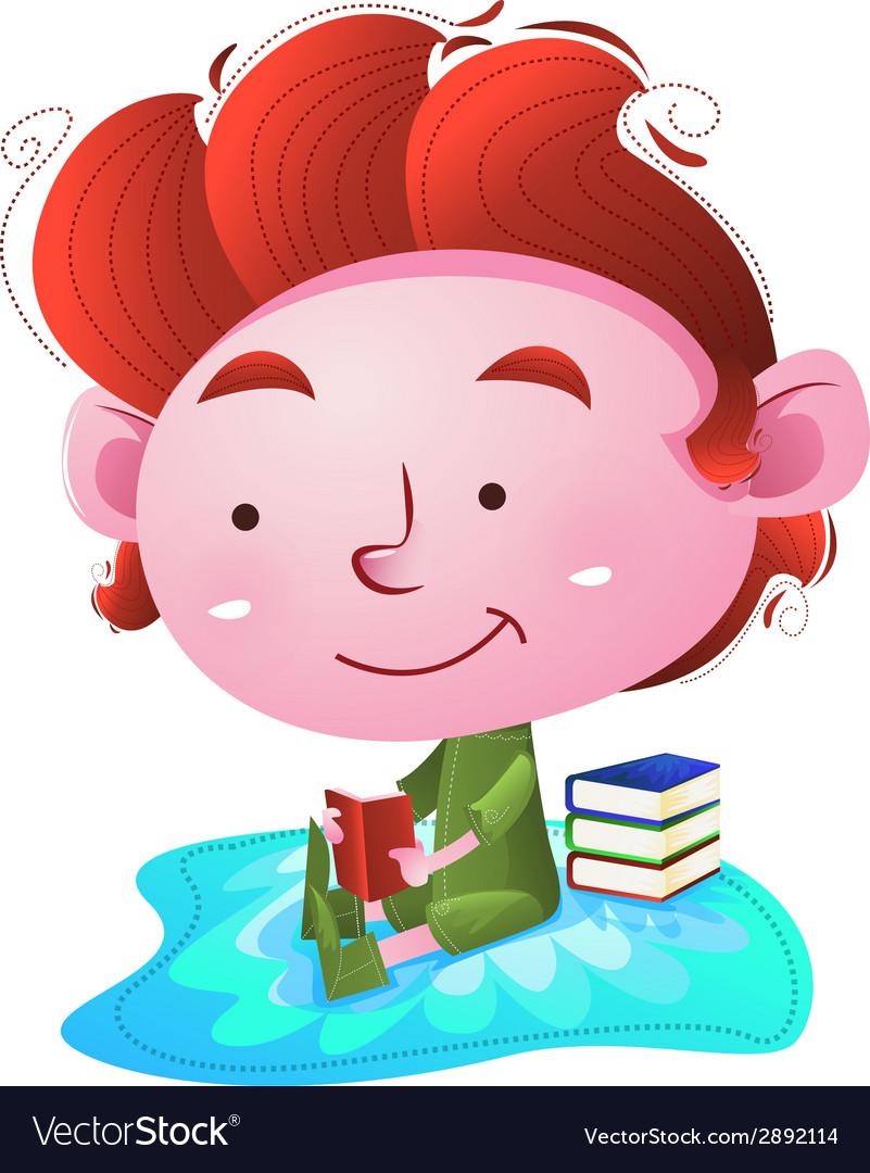 Kids reading books vector   Price: 1 Credit (USD $1)