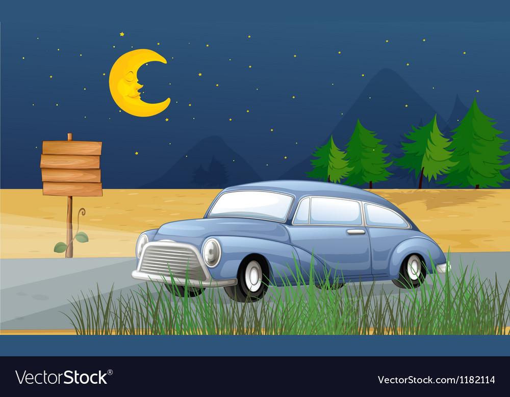 Midnight car ride vector | Price: 1 Credit (USD $1)