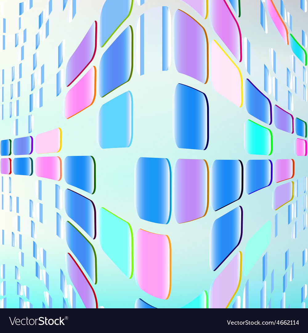 Neon waves of rectangles vector   Price: 1 Credit (USD $1)