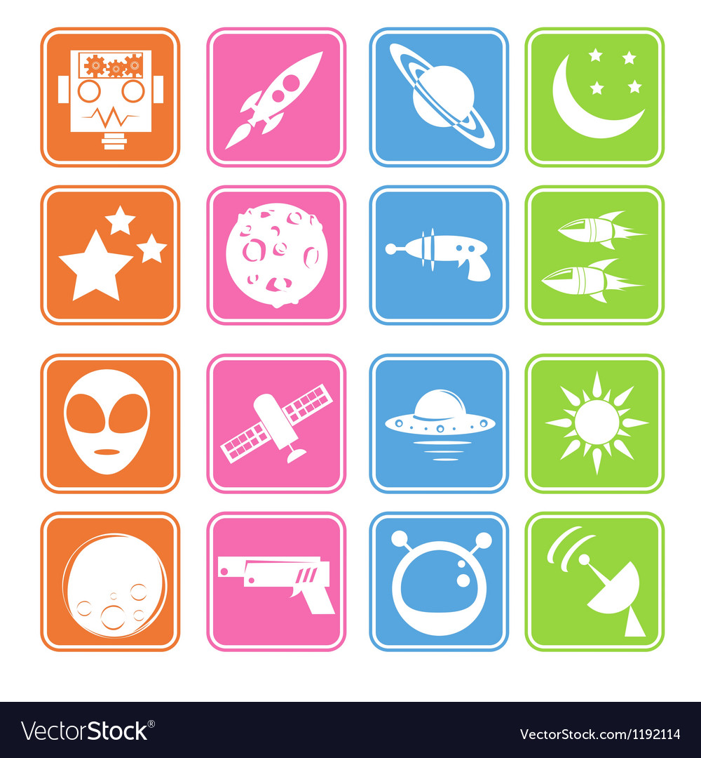 Outer space icon basic style vector | Price: 1 Credit (USD $1)