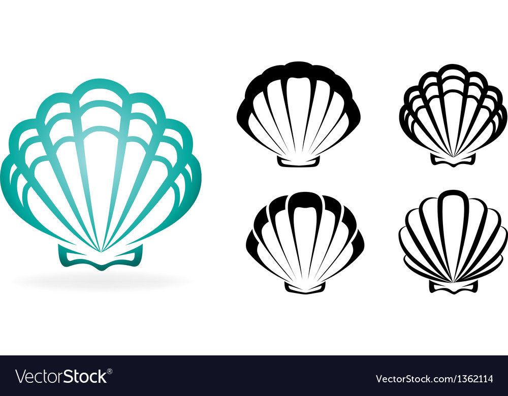 Shell collection - silhouette vector | Price: 1 Credit (USD $1)