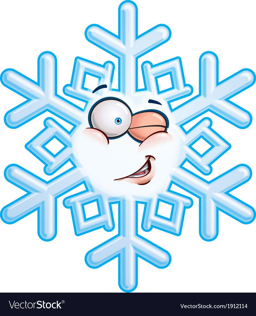 Snowflake head winging vector | Price: 1 Credit (USD $1)