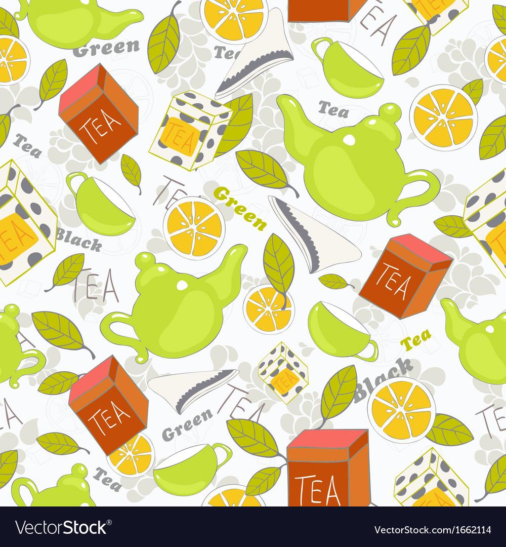 Tea pattern vector | Price: 1 Credit (USD $1)