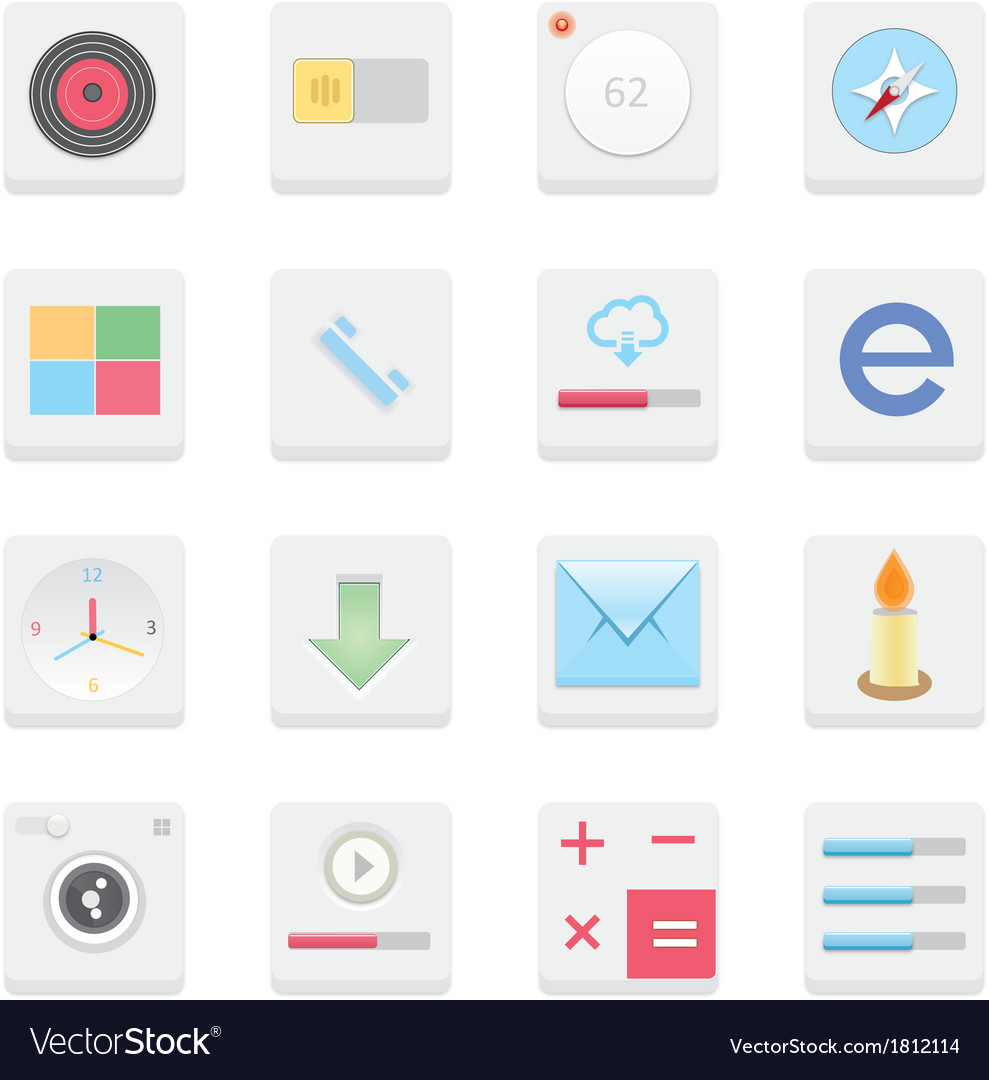 Web icons 25 vector | Price: 1 Credit (USD $1)