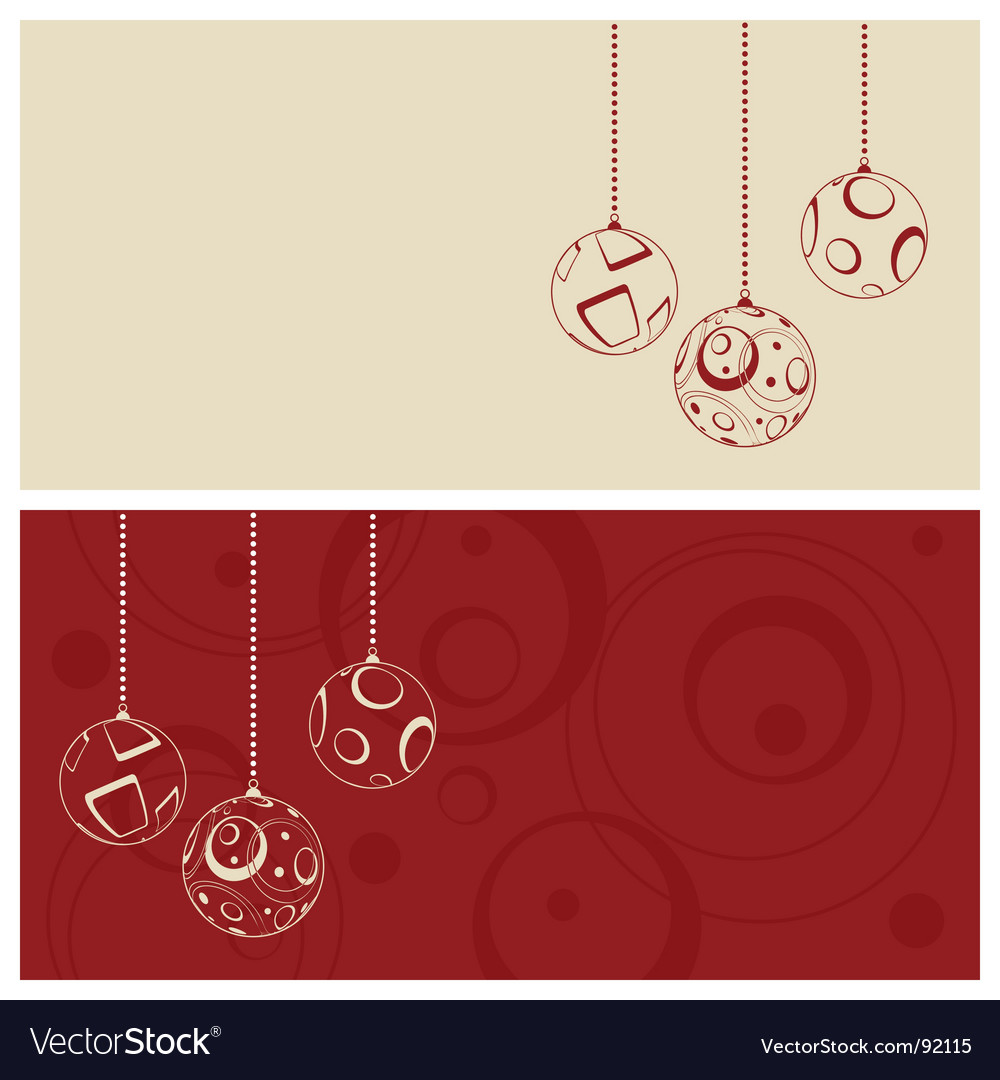Christmas card set vector | Price: 1 Credit (USD $1)
