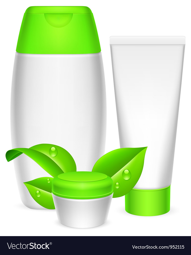 Cosmetics containers vector | Price: 3 Credit (USD $3)