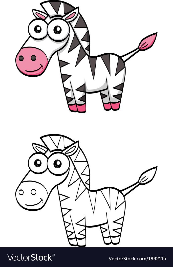 Cute cartoon zebra vector   Price: 1 Credit (USD $1)