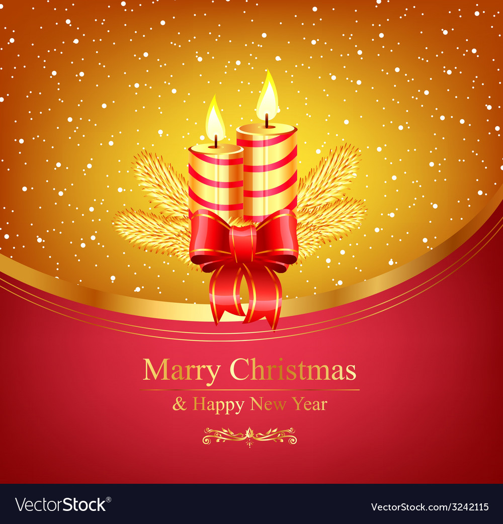 Merry christmas winter background vector   Price: 1 Credit (USD $1)