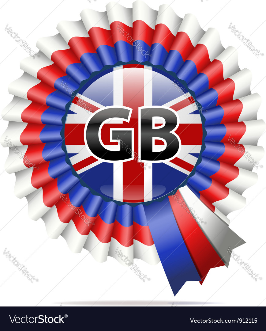 National flag badge gb vector | Price: 3 Credit (USD $3)