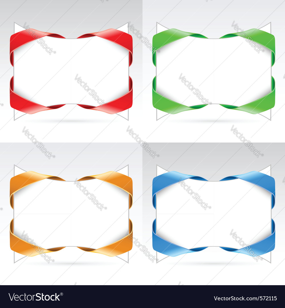 Set of blanks with ribbon vector | Price: 1 Credit (USD $1)