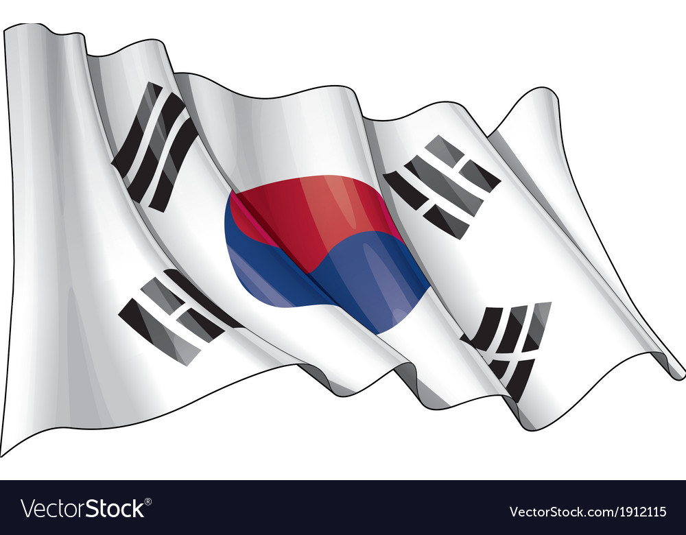 South korea flag grunge vector | Price: 1 Credit (USD $1)