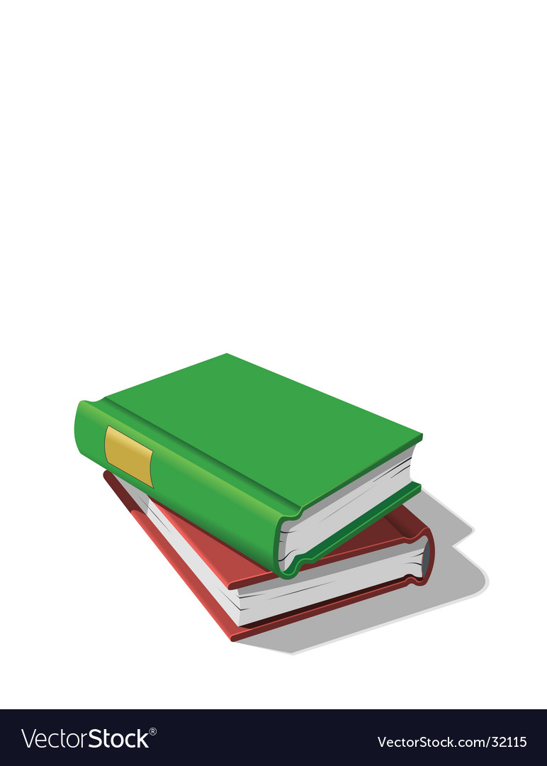 Stacked books vector