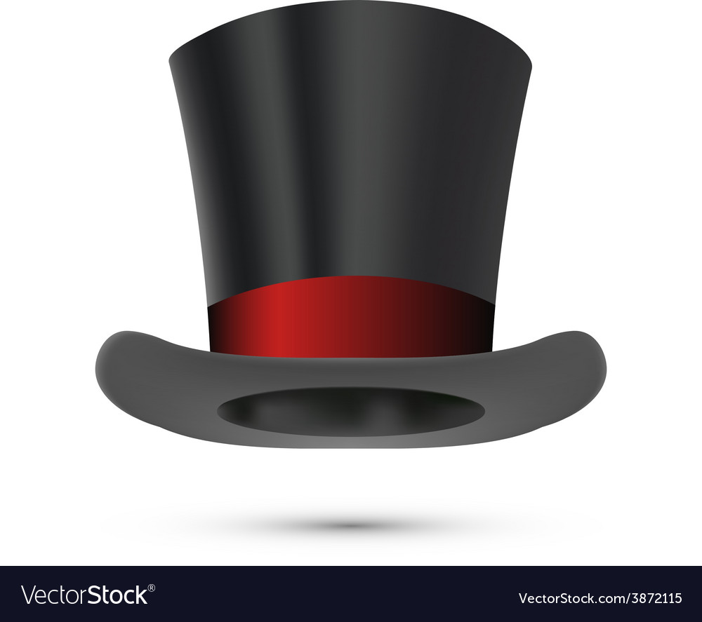 Top hat isolated on white vector | Price: 1 Credit (USD $1)