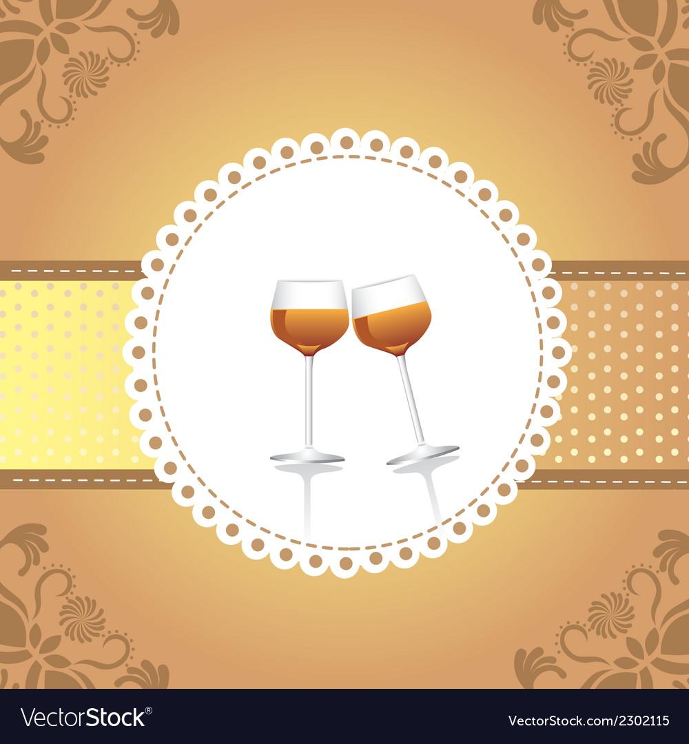 Wine cups vector