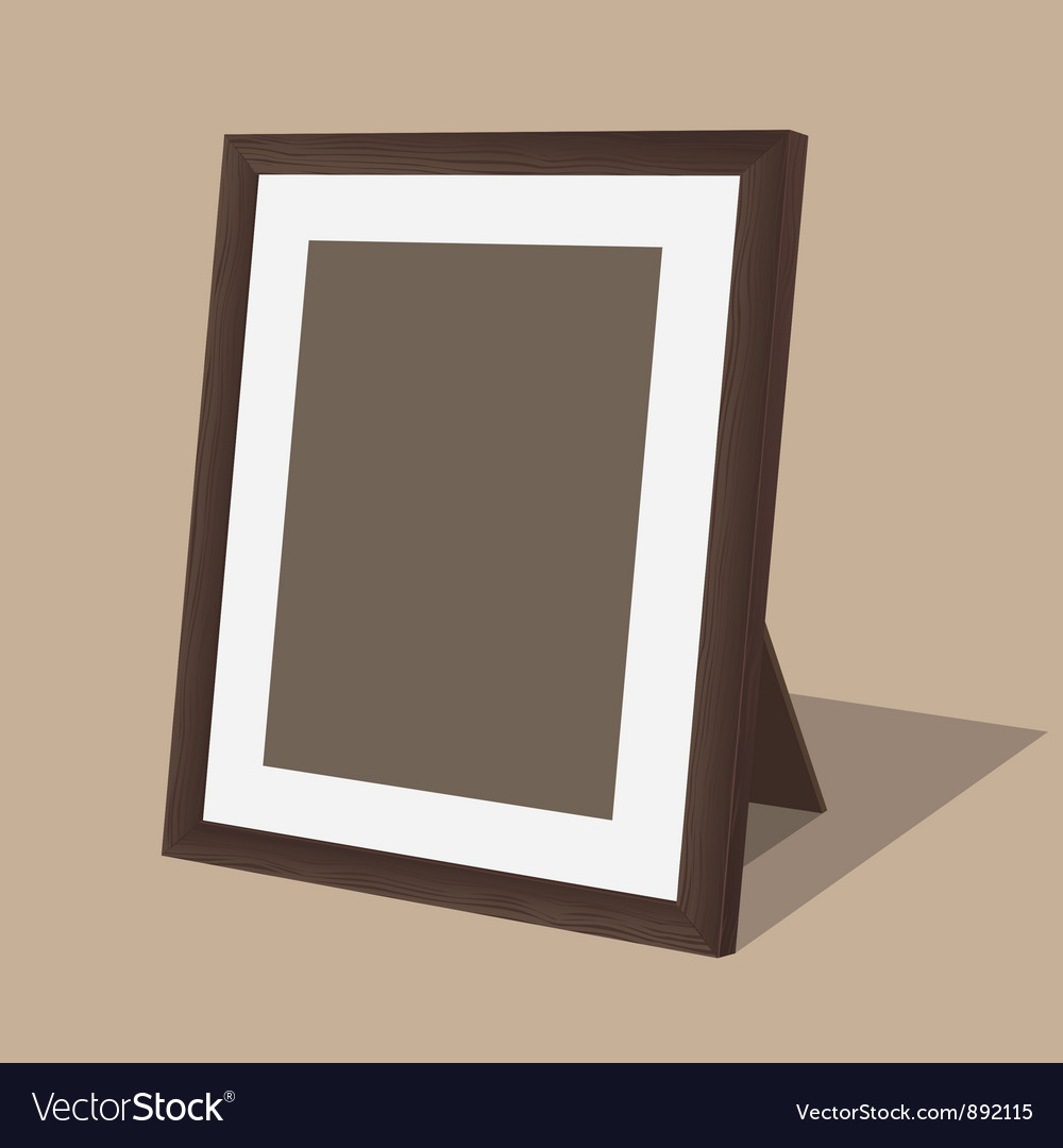 Wooden photo frame vector | Price: 1 Credit (USD $1)