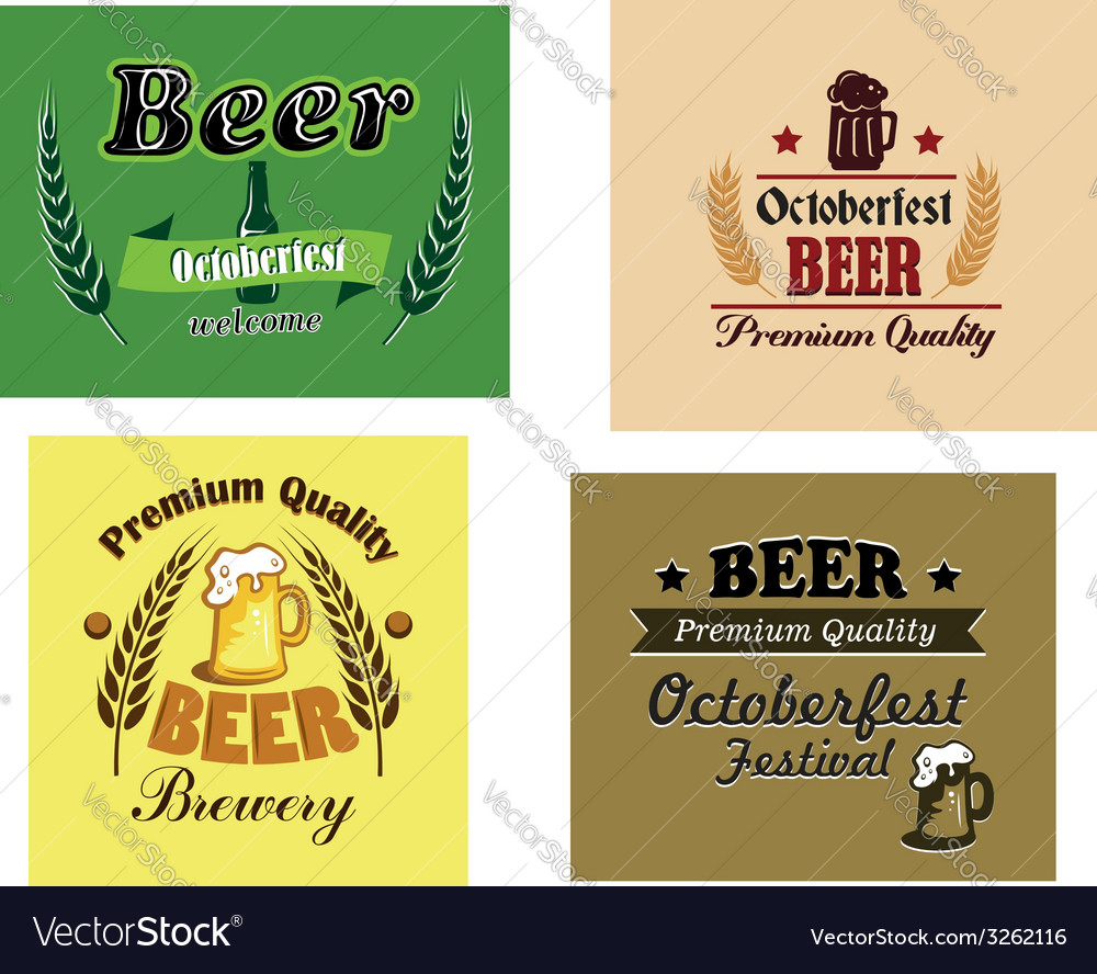 Beer advertising posters vector | Price: 1 Credit (USD $1)