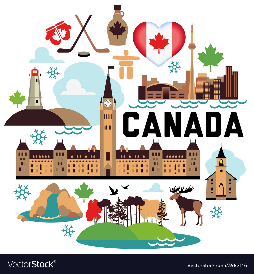 Canada pattern vector | Price: 1 Credit (USD $1)