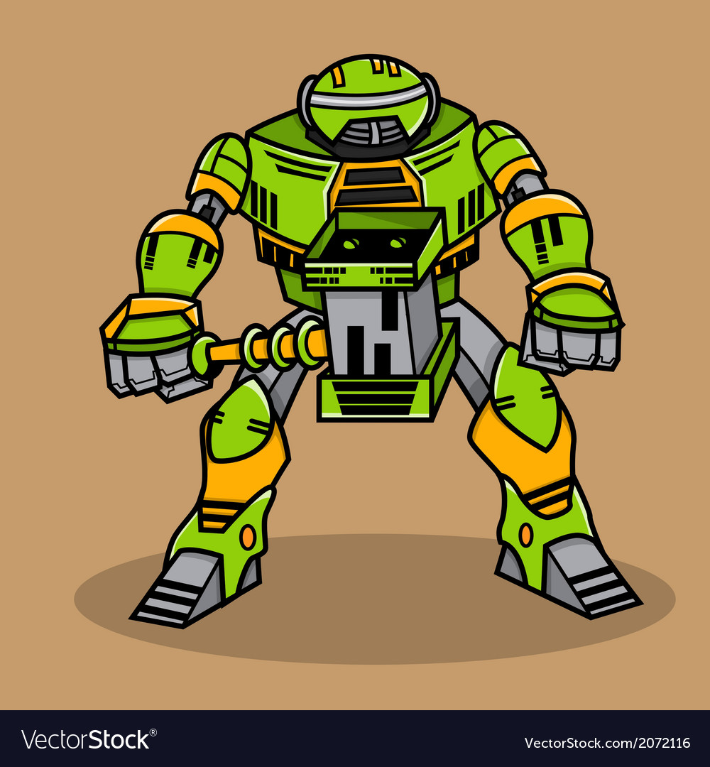 Cartoon robot vector   Price: 1 Credit (USD $1)