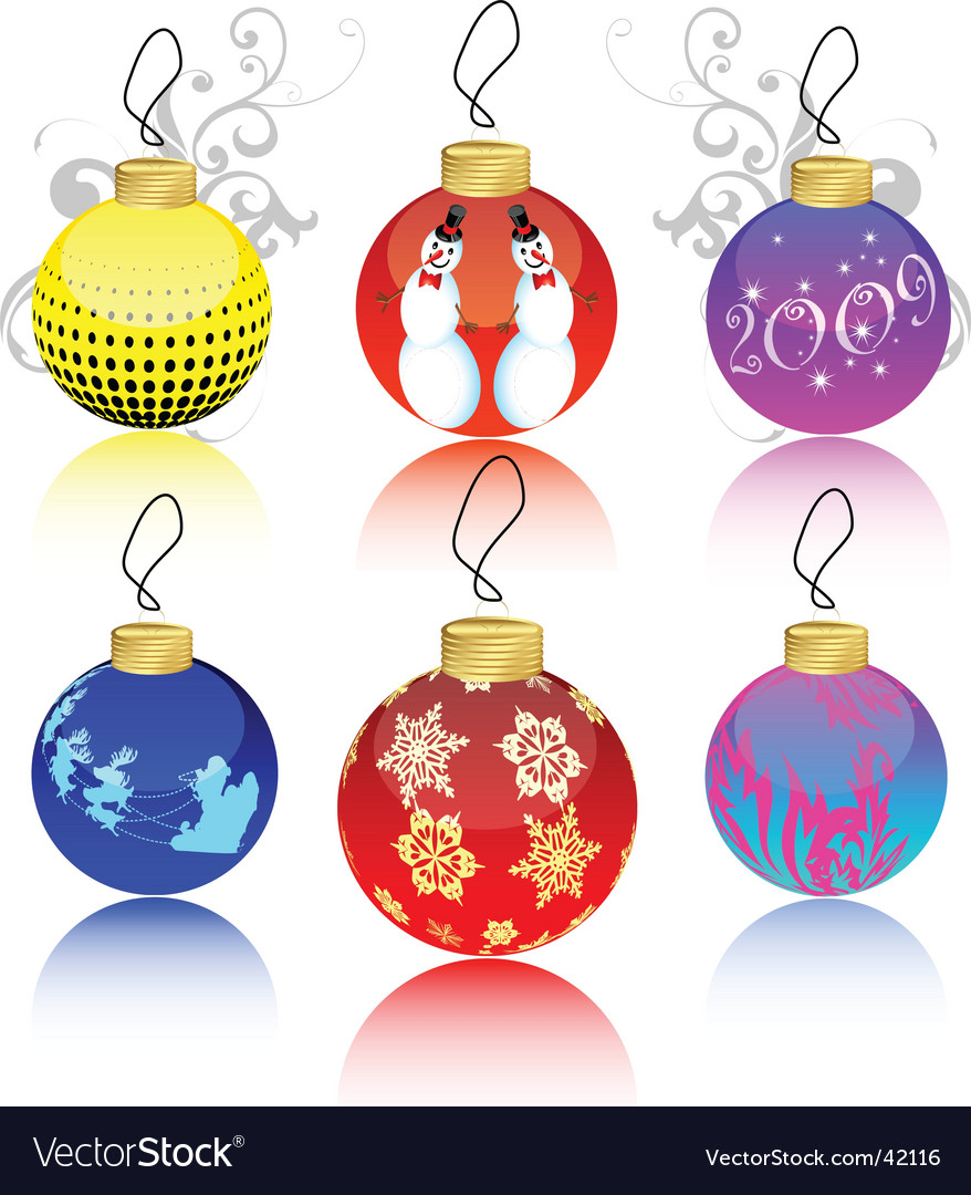 Christmas ball collection vector | Price: 1 Credit (USD $1)