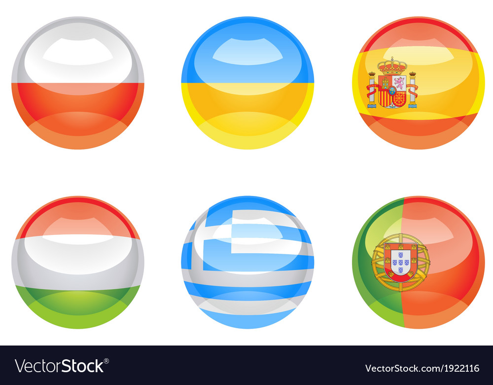 Flag buttons vector | Price: 1 Credit (USD $1)