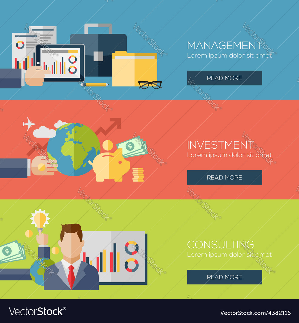 Flat design concepts for management investment vector | Price: 1 Credit (USD $1)