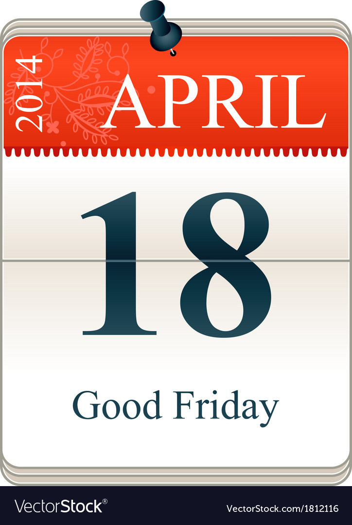 Good friday 2014 vector | Price: 1 Credit (USD $1)