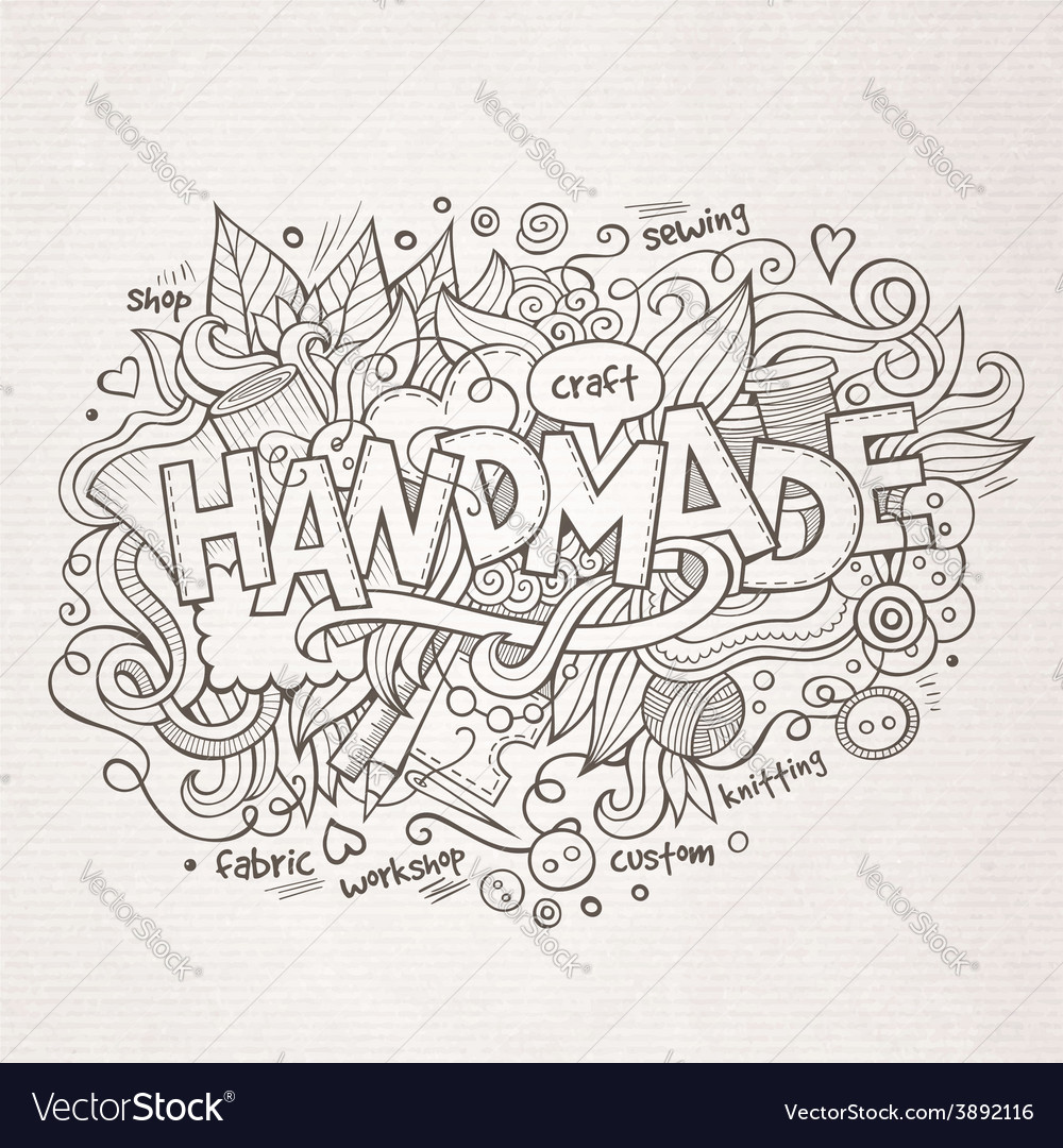 Handmade hand lettering and doodles elements vector | Price: 1 Credit (USD $1)