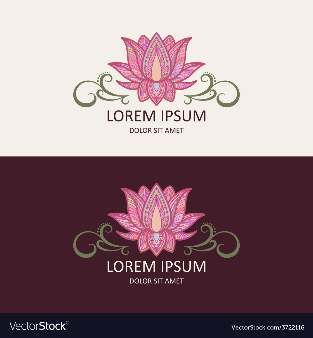 Lotus logo vector | Price: 1 Credit (USD $1)