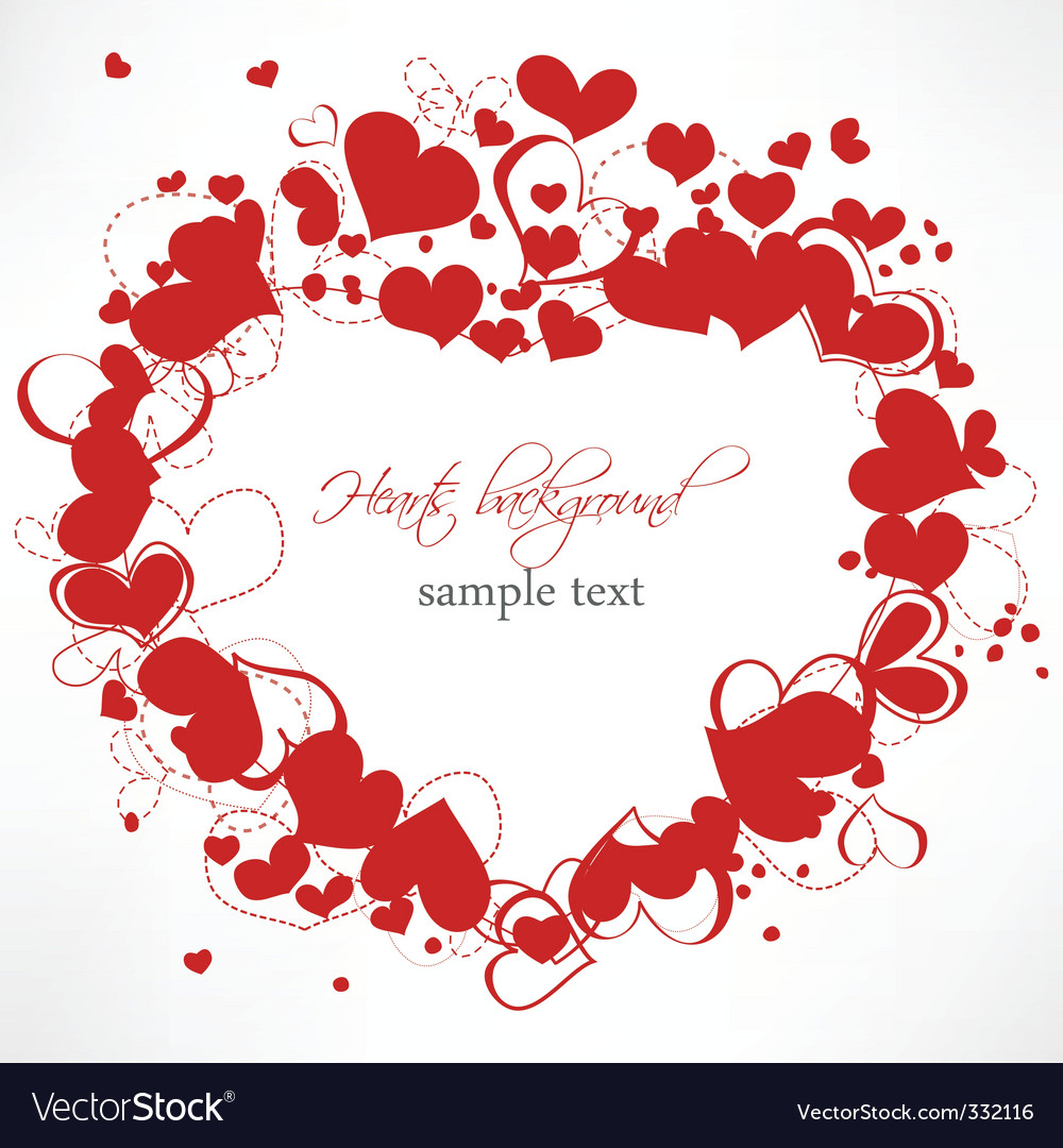 Romantic frame vector | Price: 1 Credit (USD $1)
