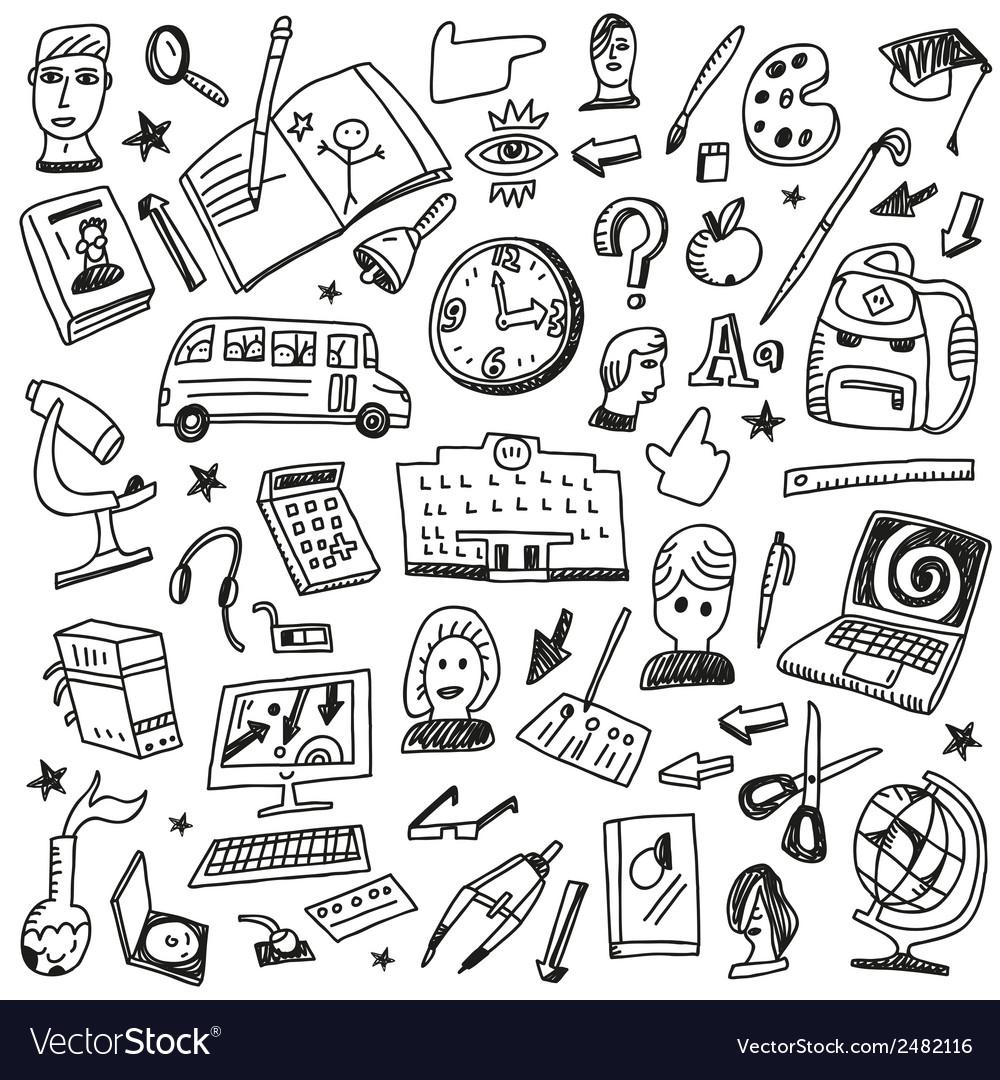 School education - doodles vector | Price: 1 Credit (USD $1)