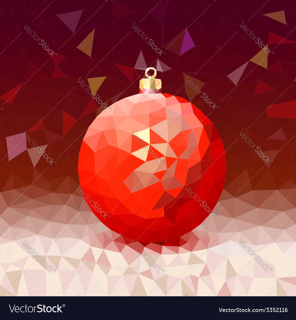Triangle background with bright christmas ball vector | Price: 1 Credit (USD $1)