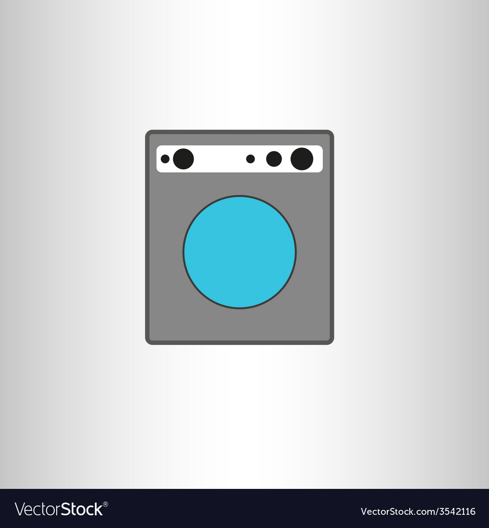 Washing machine isolated icon vector | Price: 1 Credit (USD $1)