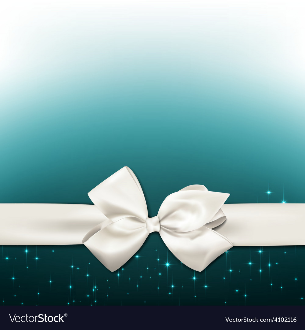 White gift bow vector | Price: 1 Credit (USD $1)