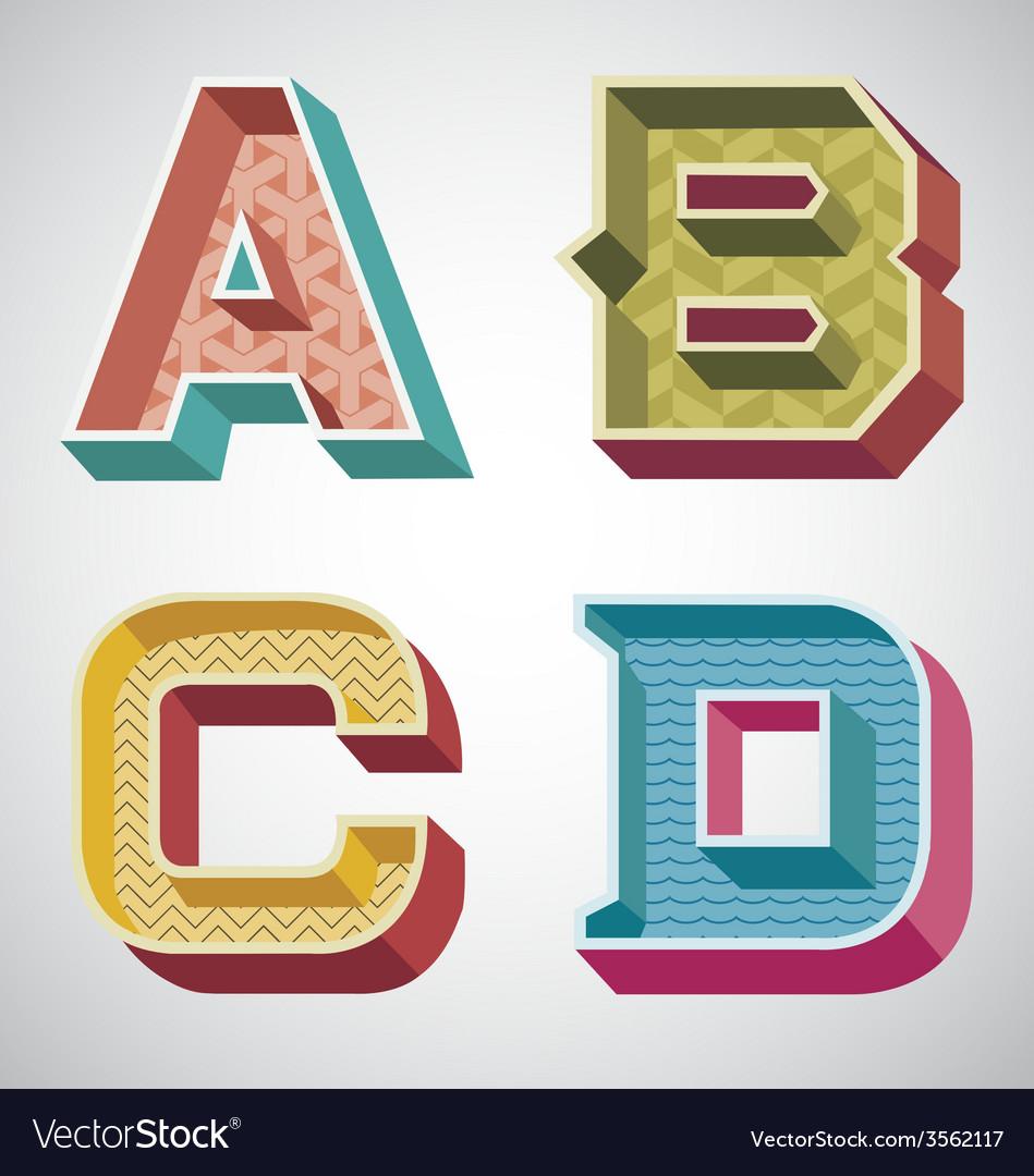 Alphabet retro vector | Price: 1 Credit (USD $1)