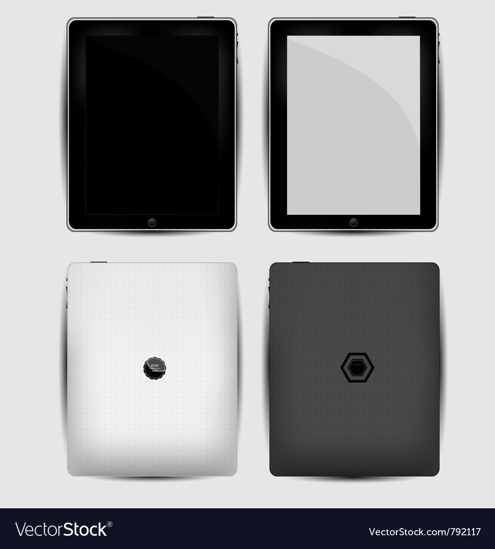 Black abstract tablet pc on white vector | Price: 1 Credit (USD $1)