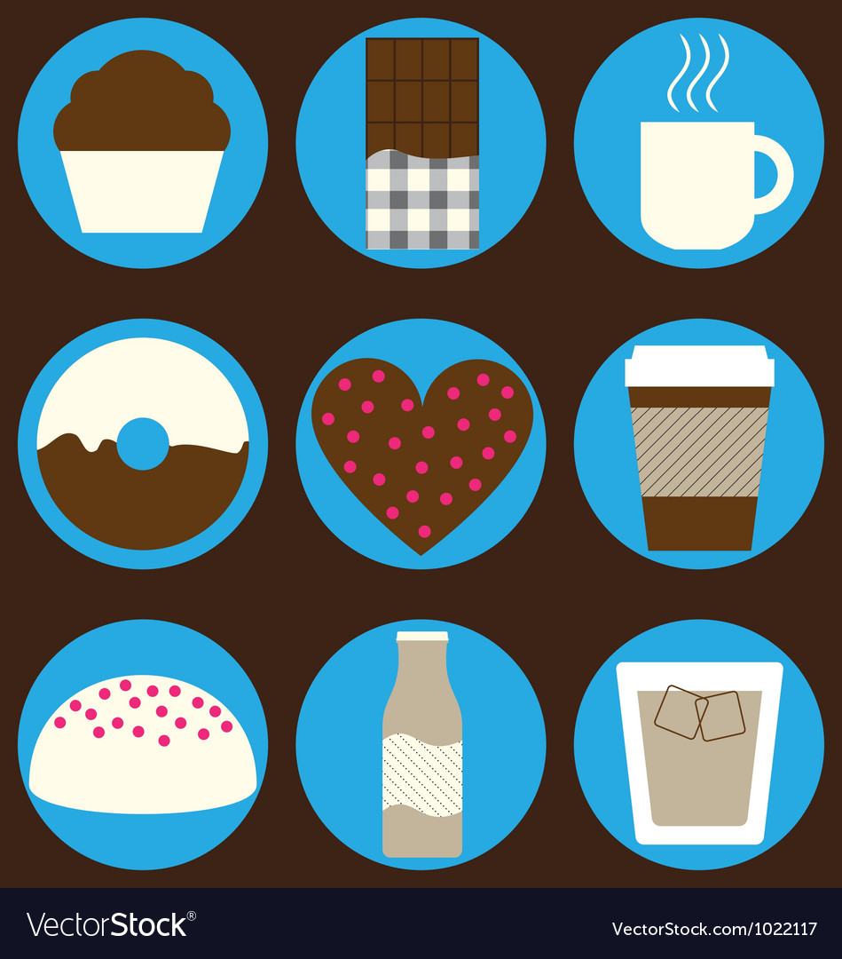 Coffee and chocolate set vector | Price: 1 Credit (USD $1)