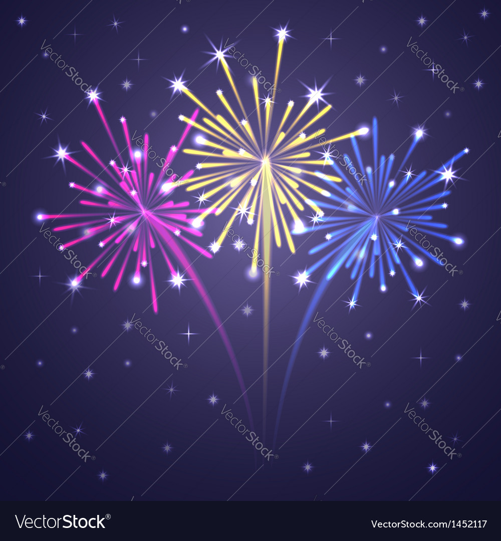 Fireworks colorful 1 vector | Price: 1 Credit (USD $1)