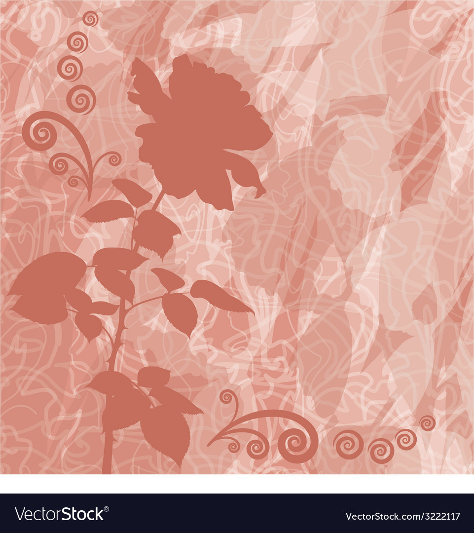 Holiday background with flower rose silhouette vector   Price: 1 Credit (USD $1)