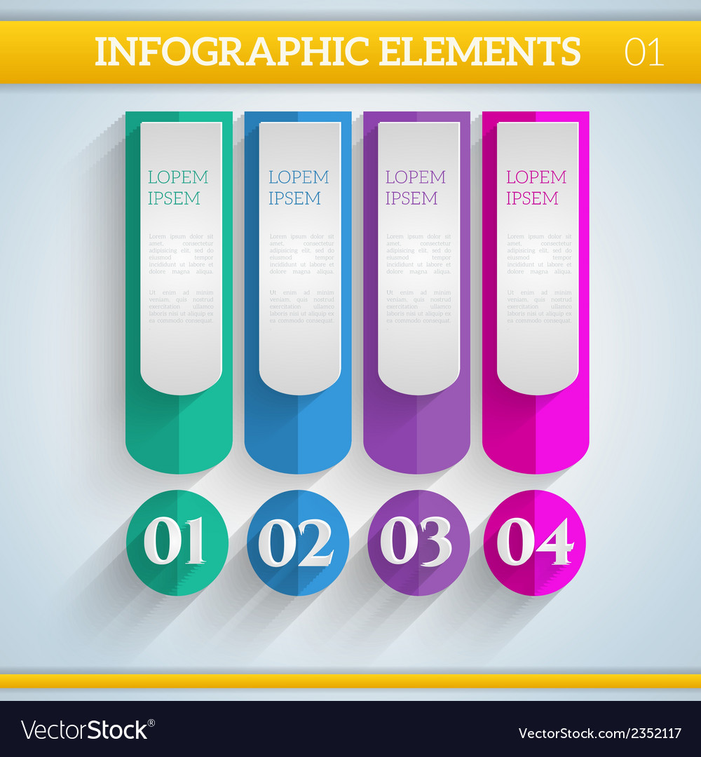 Infographic elements in flat colors vector | Price: 1 Credit (USD $1)