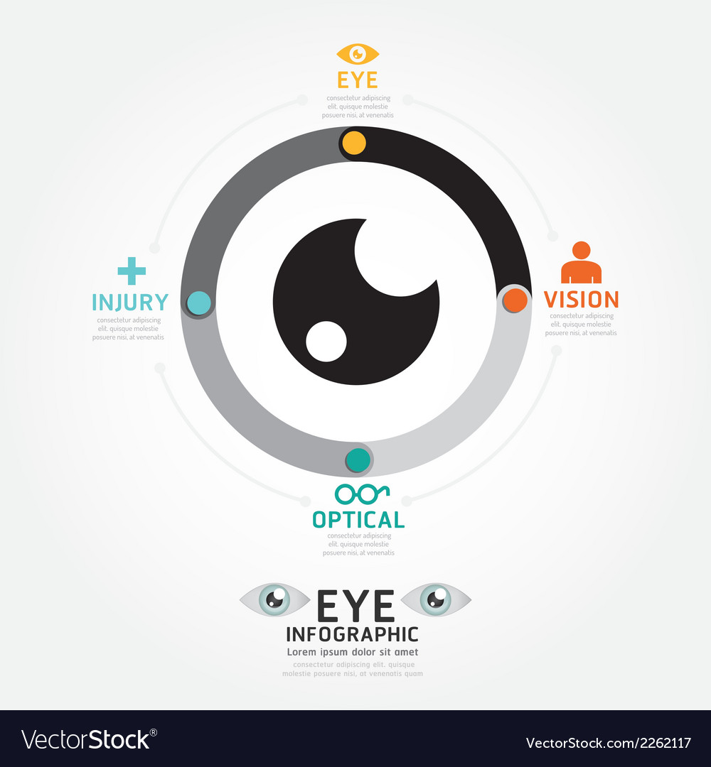 Infographics eye design diagram line style vector | Price: 1 Credit (USD $1)