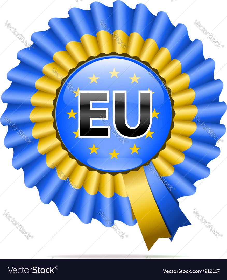 National flag badge eu vector | Price: 3 Credit (USD $3)