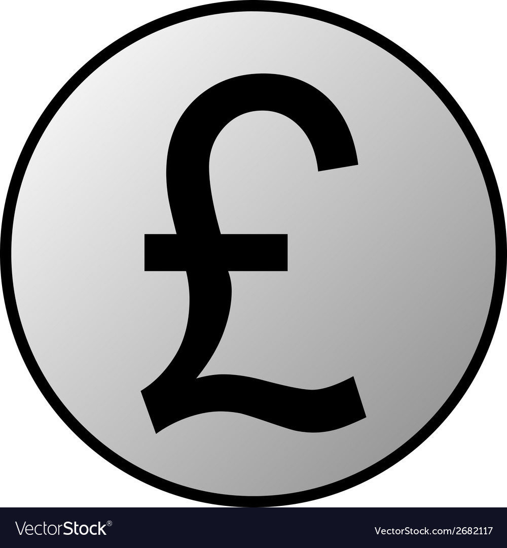 Pound symbol button vector | Price: 1 Credit (USD $1)