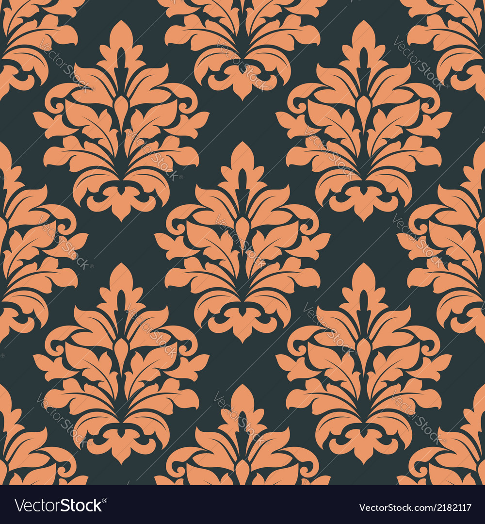 Retro floral seamless pattern vector | Price: 1 Credit (USD $1)