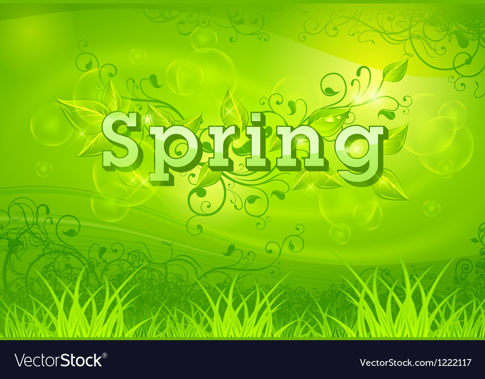 Spring background green vector | Price: 1 Credit (USD $1)
